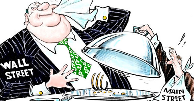 the 40 biggest companies to get Payroll Protection loans from the government - cartoon of a fat cat