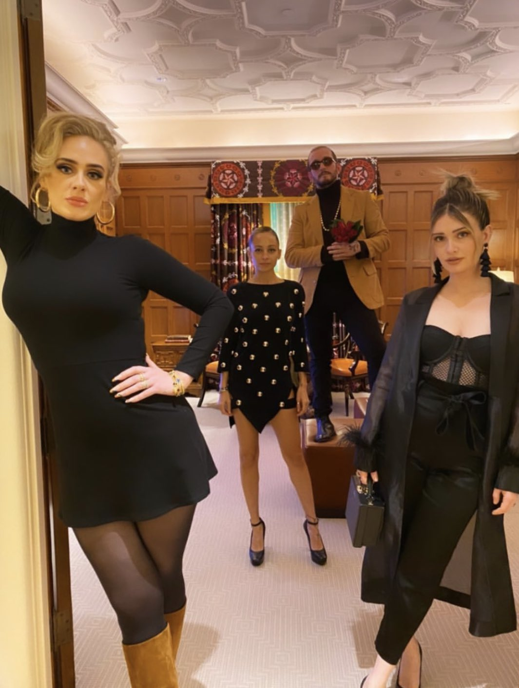 Adele and friends striking a pose