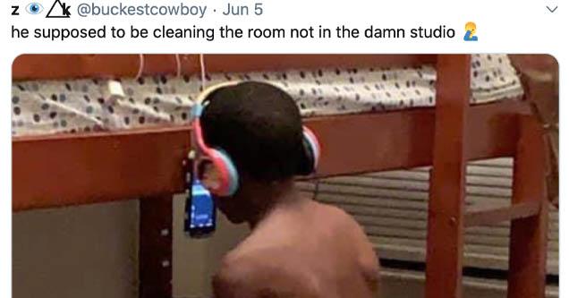 Ray 3,boy who went viral for his bedroom 'studio' setup