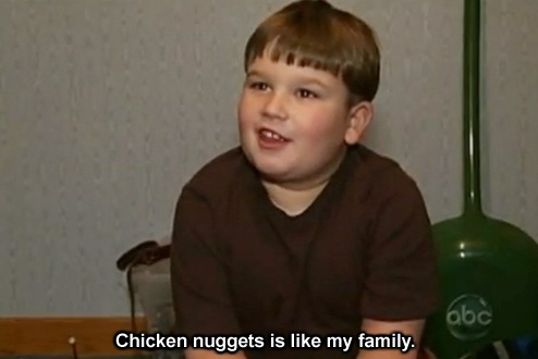 king curtis chicken nuggets is like my family