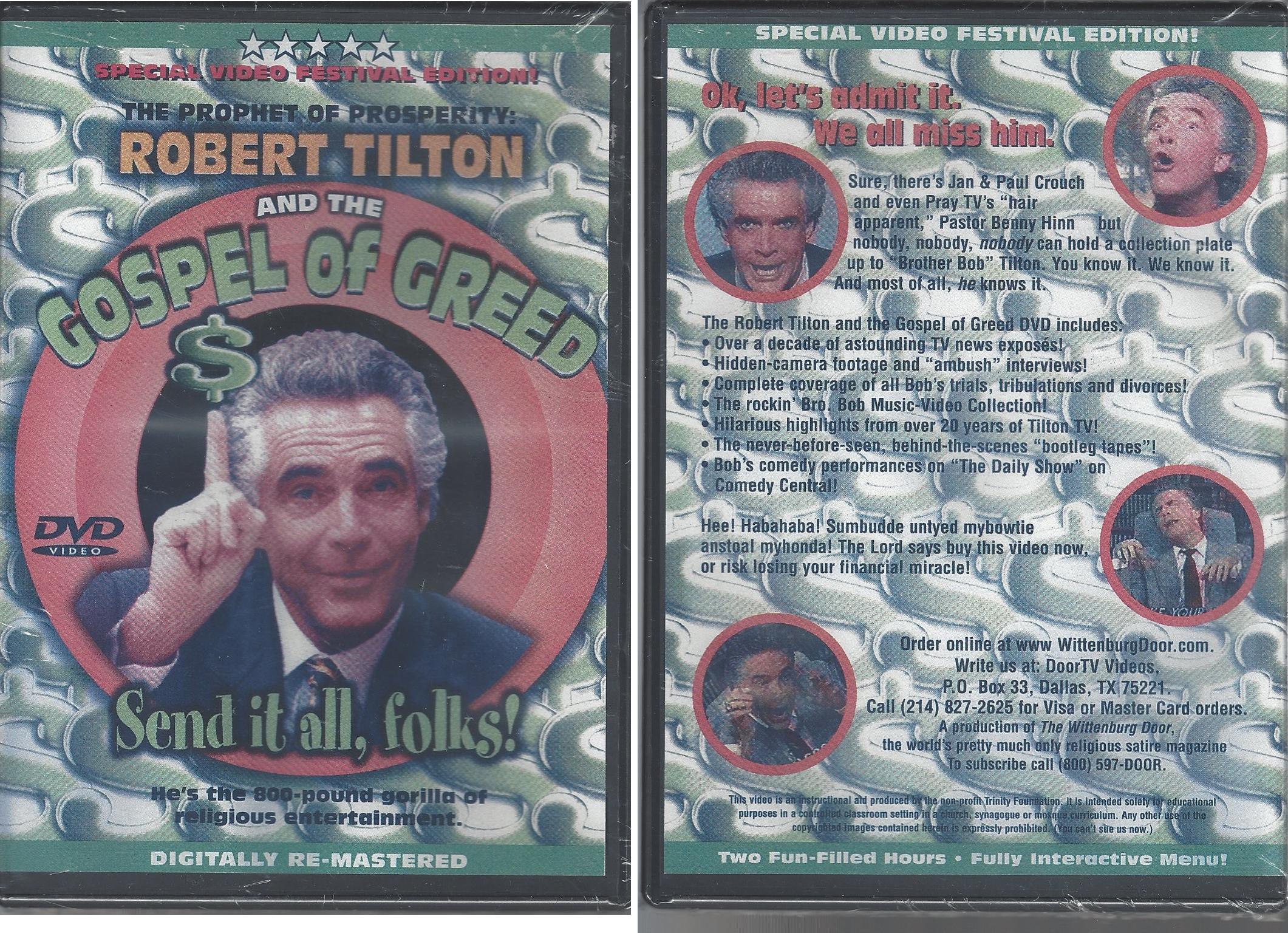 robert tilton gospel of greed dvd