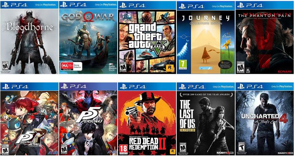 popular ps4 video games