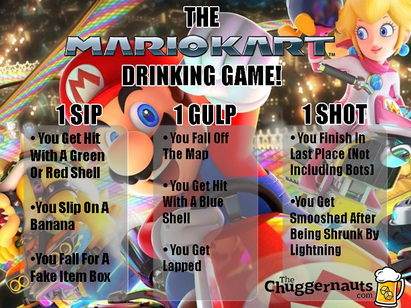 mario kart 64 video game drinking game rules