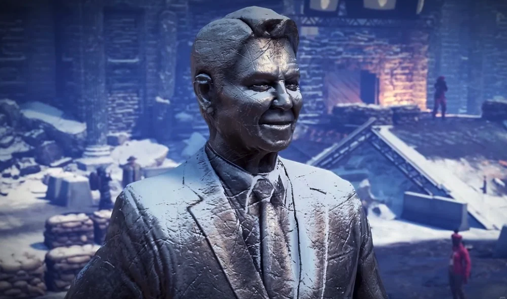ronald reagan statue wasteland 3 video game
