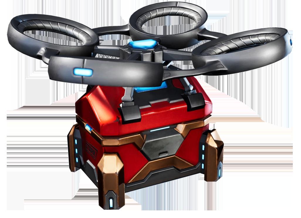 fortnite chapter 2 season 4 stark bot drone quinjet