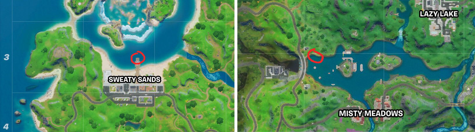 fortnite chapter 2 season 4 midas flopper fish spots to catch it