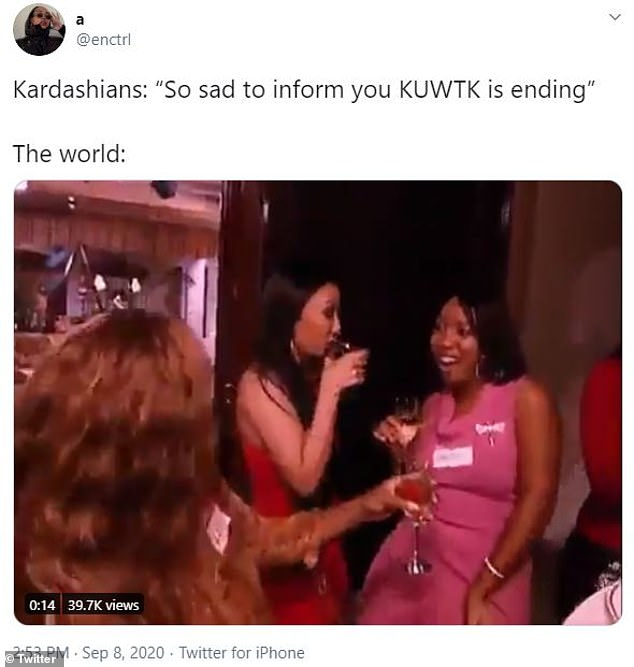 memes and reactions to keeping up with the Kardashian's being cancelled after 14 years
