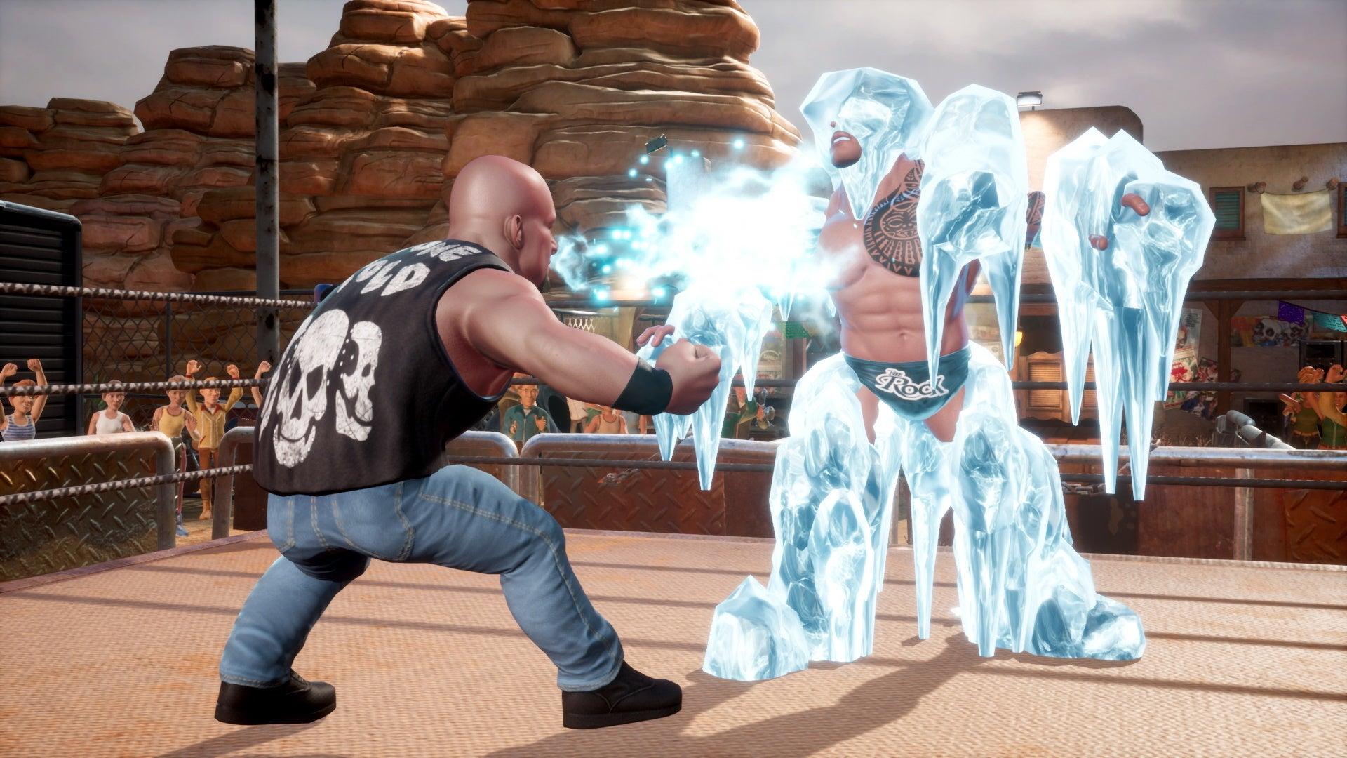 wwe 2k battlegrounds stone cold steve austin ice attack