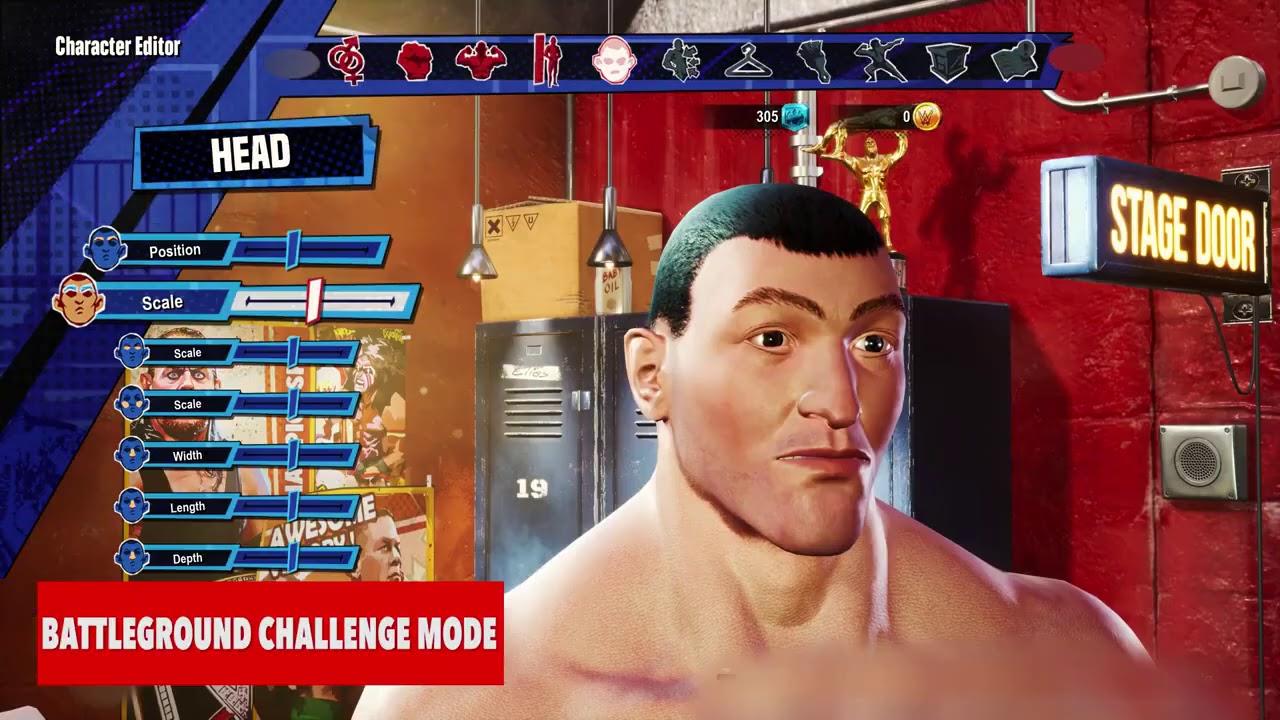 wwe 2k battlegrounds character select challenge mode
