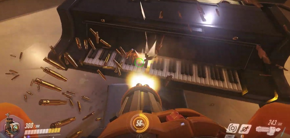 shooting the piano in overwatch