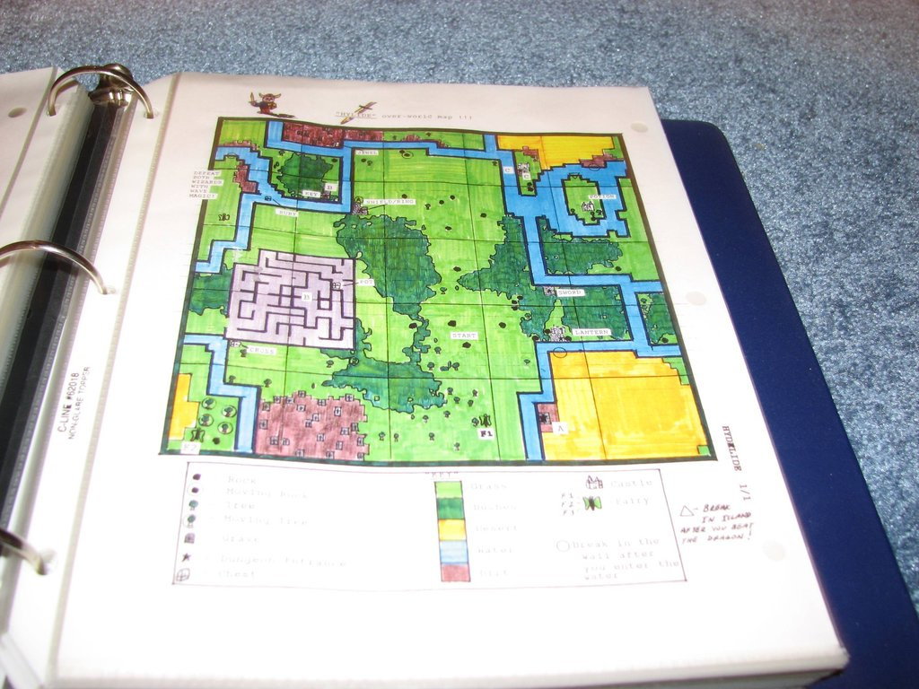 nintendo game play counselor - binder with game maps