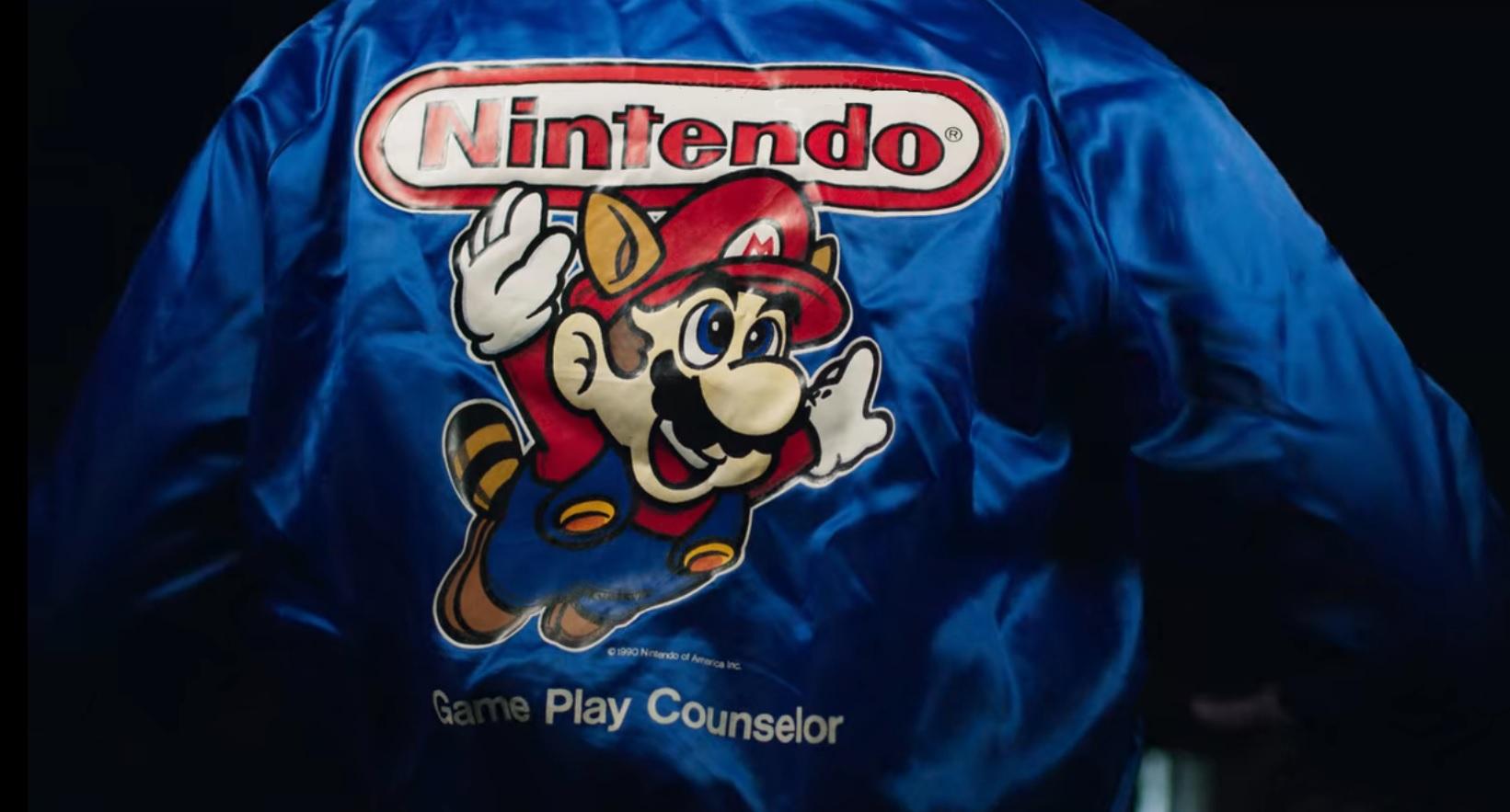 nintendo game play counselor windbreaker jacket