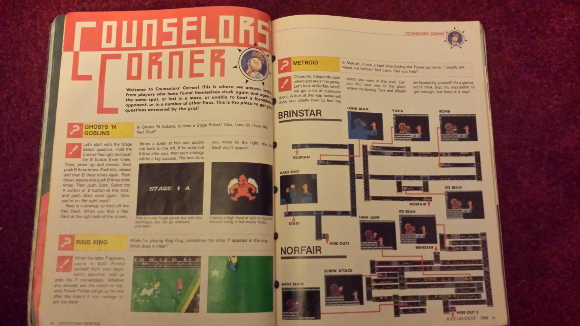 nintendo game play counselor - nintendo power magazine counselor's corner
