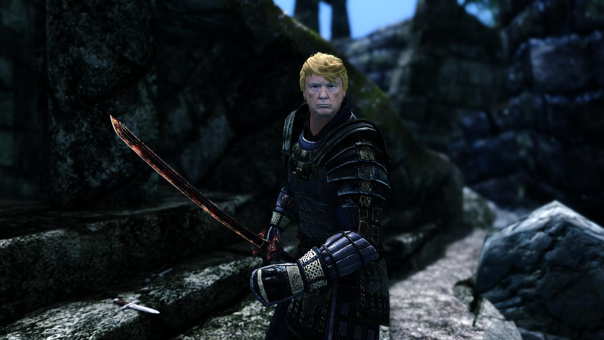 donald trump video game mod