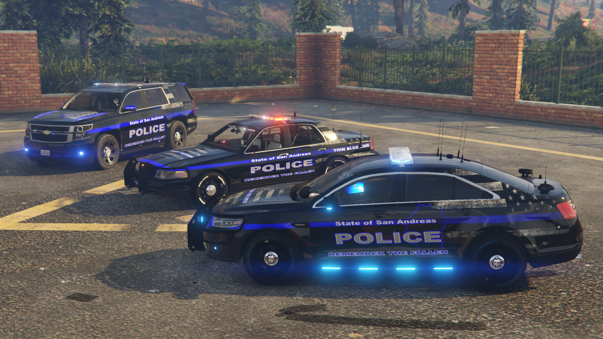 thin blue line police mods grand theft auto