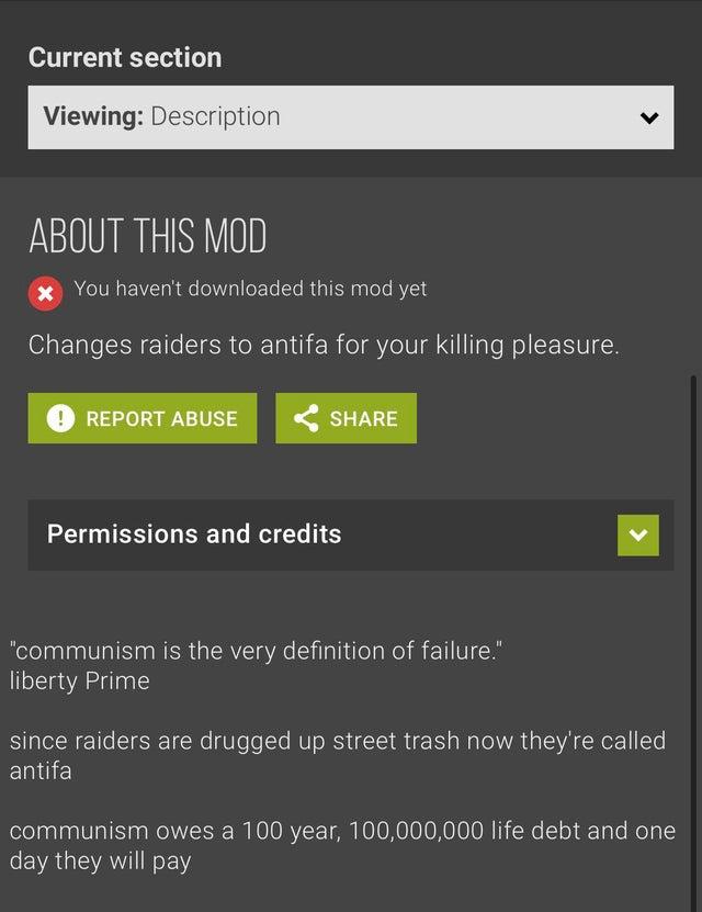 antifa mod nexus mods video games