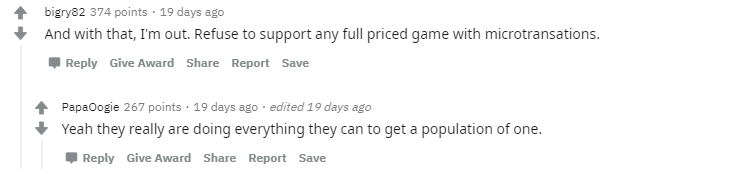 and with that I'm out. refuse to support any full priced game with microtransactions.  - population one vr battle royale game