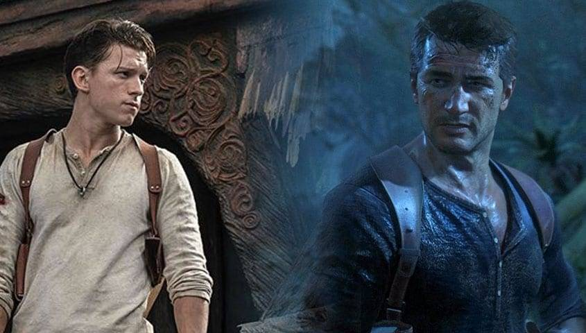 tom holland uncharted video game movie
