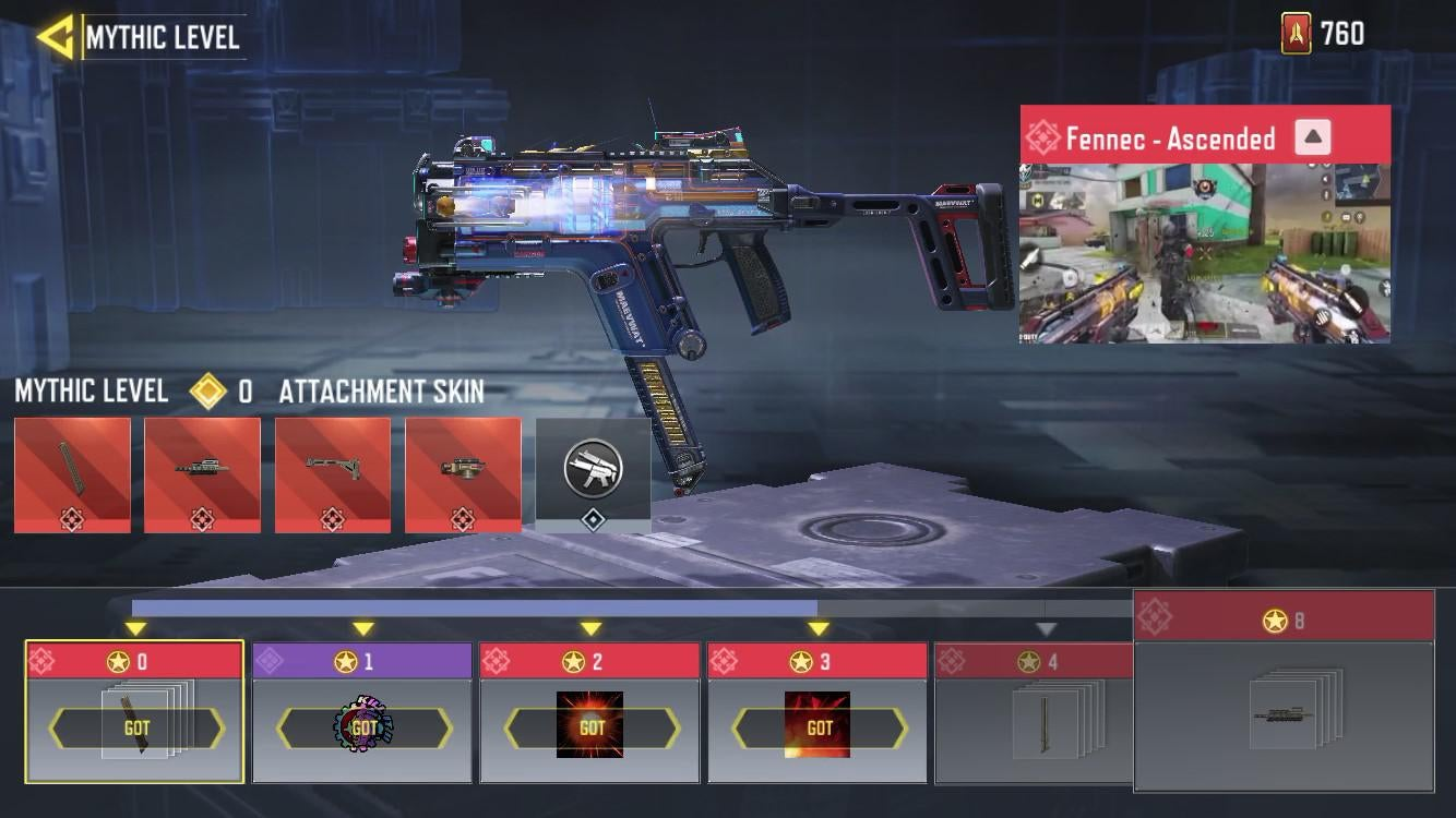 call of duty mobile mythic fennec ascended