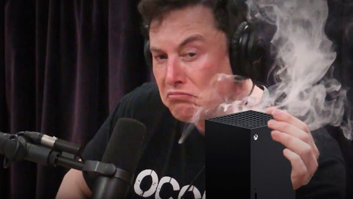 elon musk smoking weed meme xbox series x