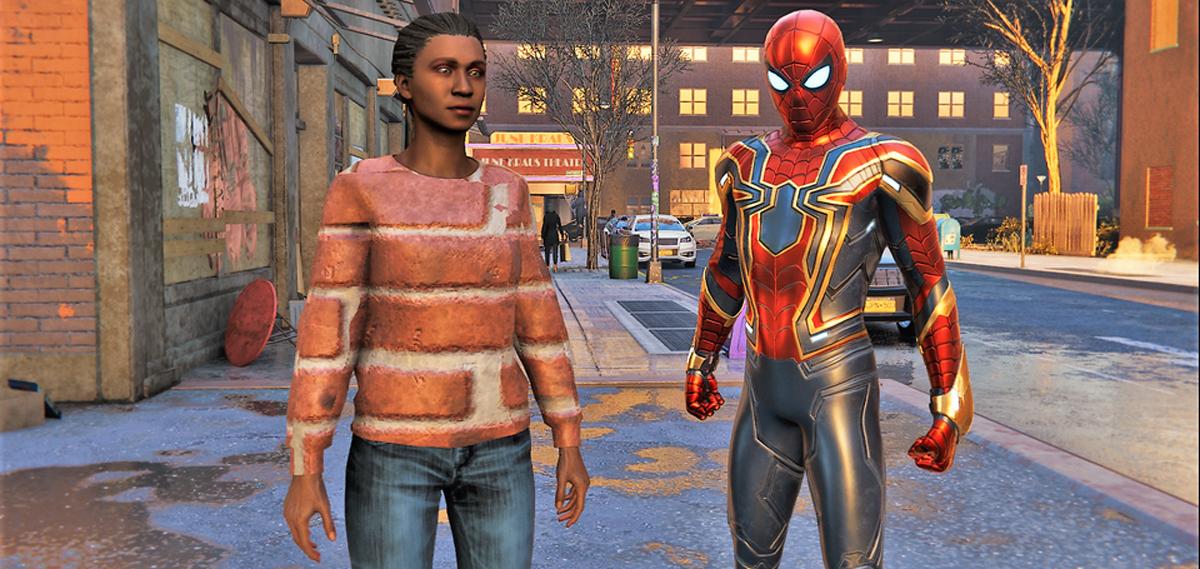 spider-man miles morales glitch
