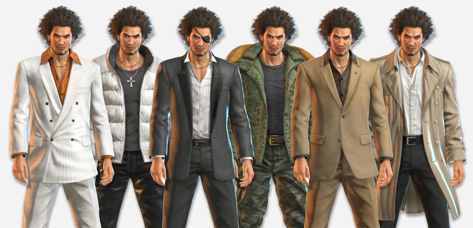 yakuza: like a dragon outfits