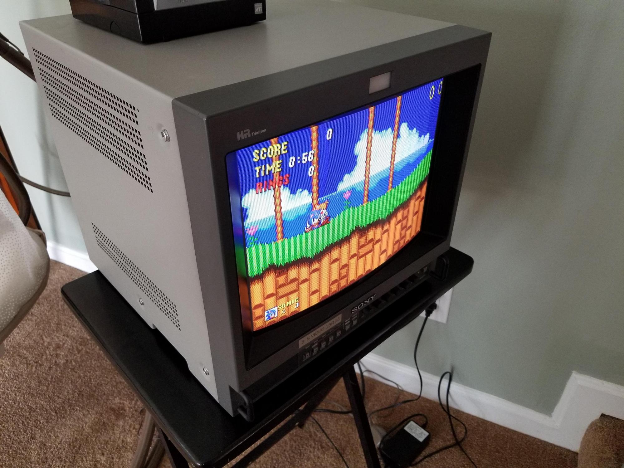 retro video game monitor