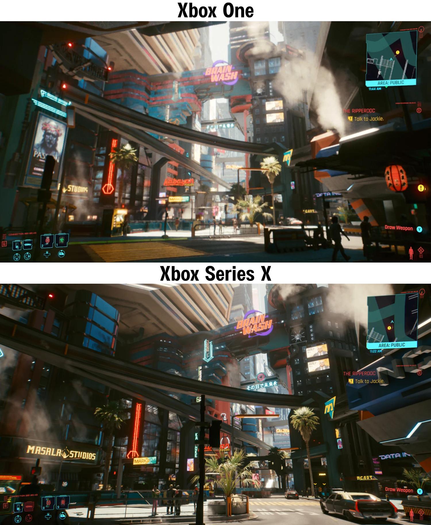 Сравнения xbox one xbox series x cyberpunk 2077 с конкурентами