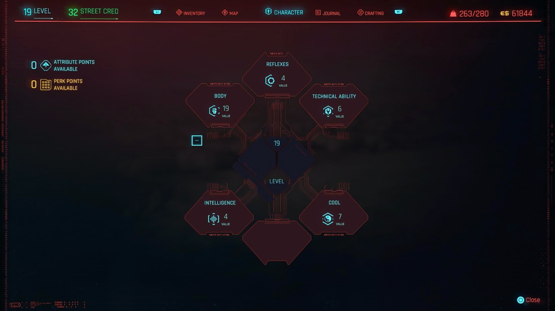 respending attributes cyberpunk 2077 video game