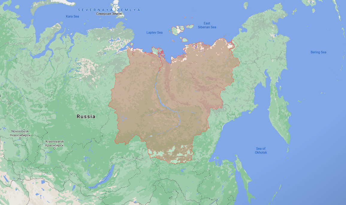 the region of siberia where a wooly rhino was discovered