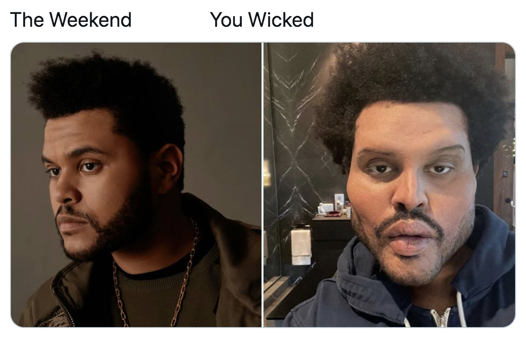 the weekend -  you wicked meme - the weekend before and after pictures