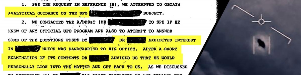 a declassified CIA document about UFOS