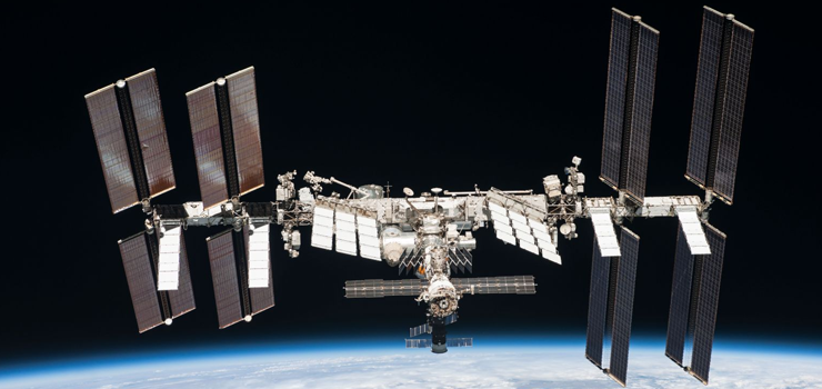 a photo of the international space station