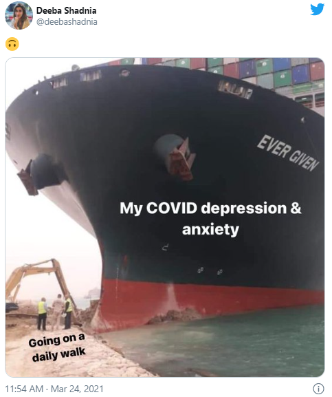 covid depression and anxiety vs going for a walk