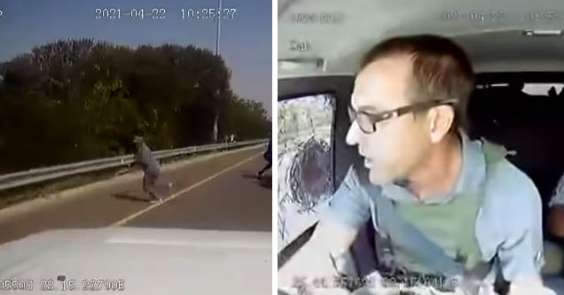 dashcam footage shots of attempted armored car robbery in South Africa