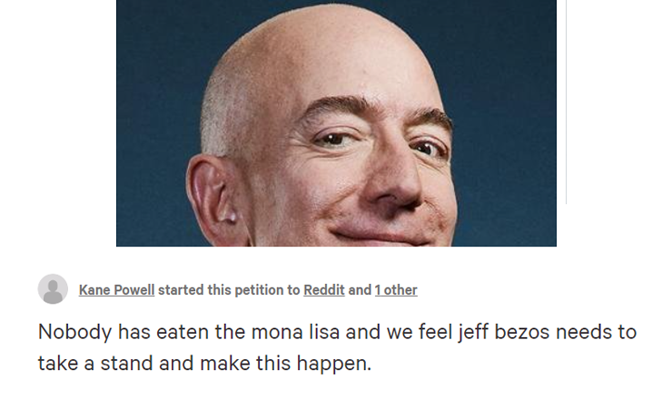 Jeff Bezos Change Petition