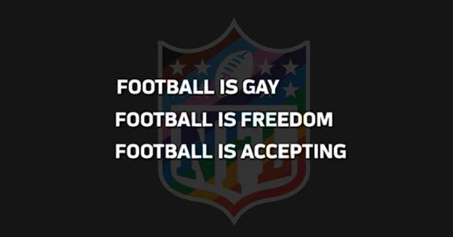 football is gay - still from NFL ad