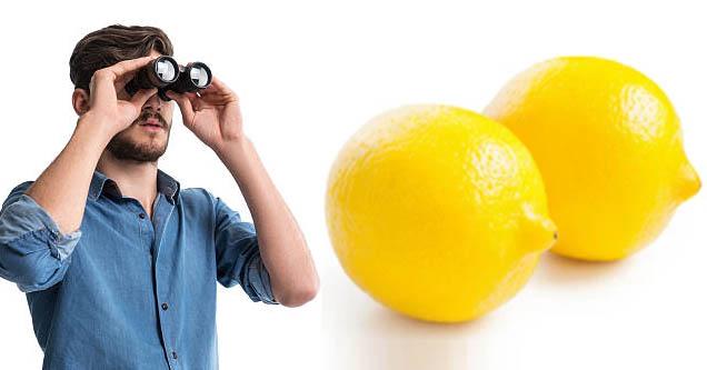 binoculars man   lemons