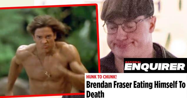 National Enquirer bullying Brendan Fraser on weight gain