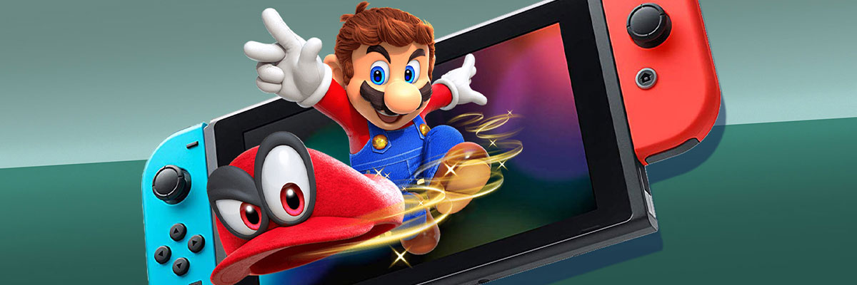 Mario coming out of a Nintendo Switch -  some games you can beat in a single weekend