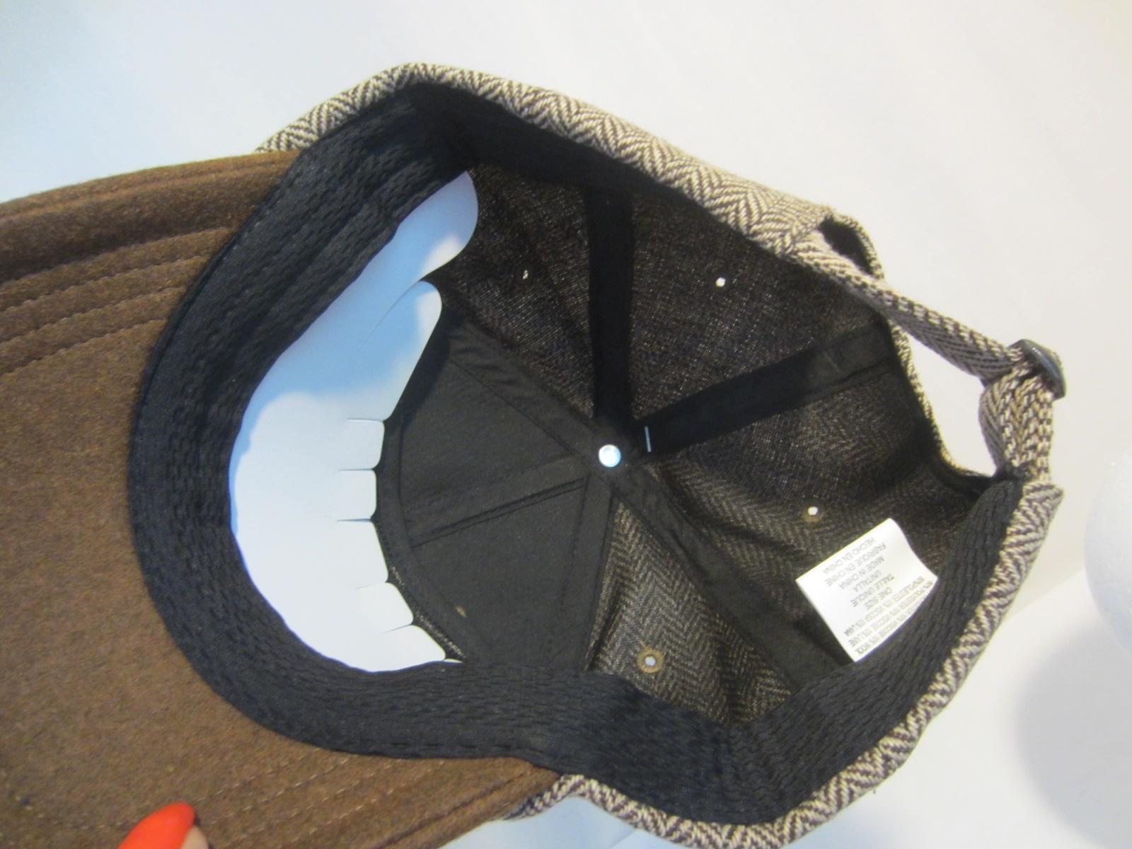 MERRELL herringbone finnic baseball cap hat NWT brown white $35