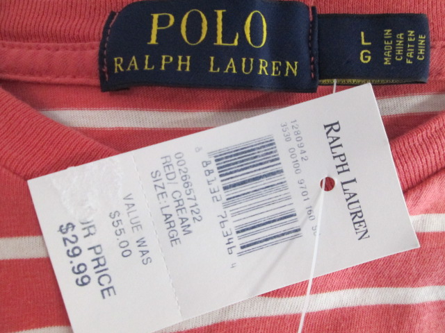 Ralph Short Stripe Details Large Lauren Polo About New Shirt Size Sleeve Brand With Tags xCrdBoe