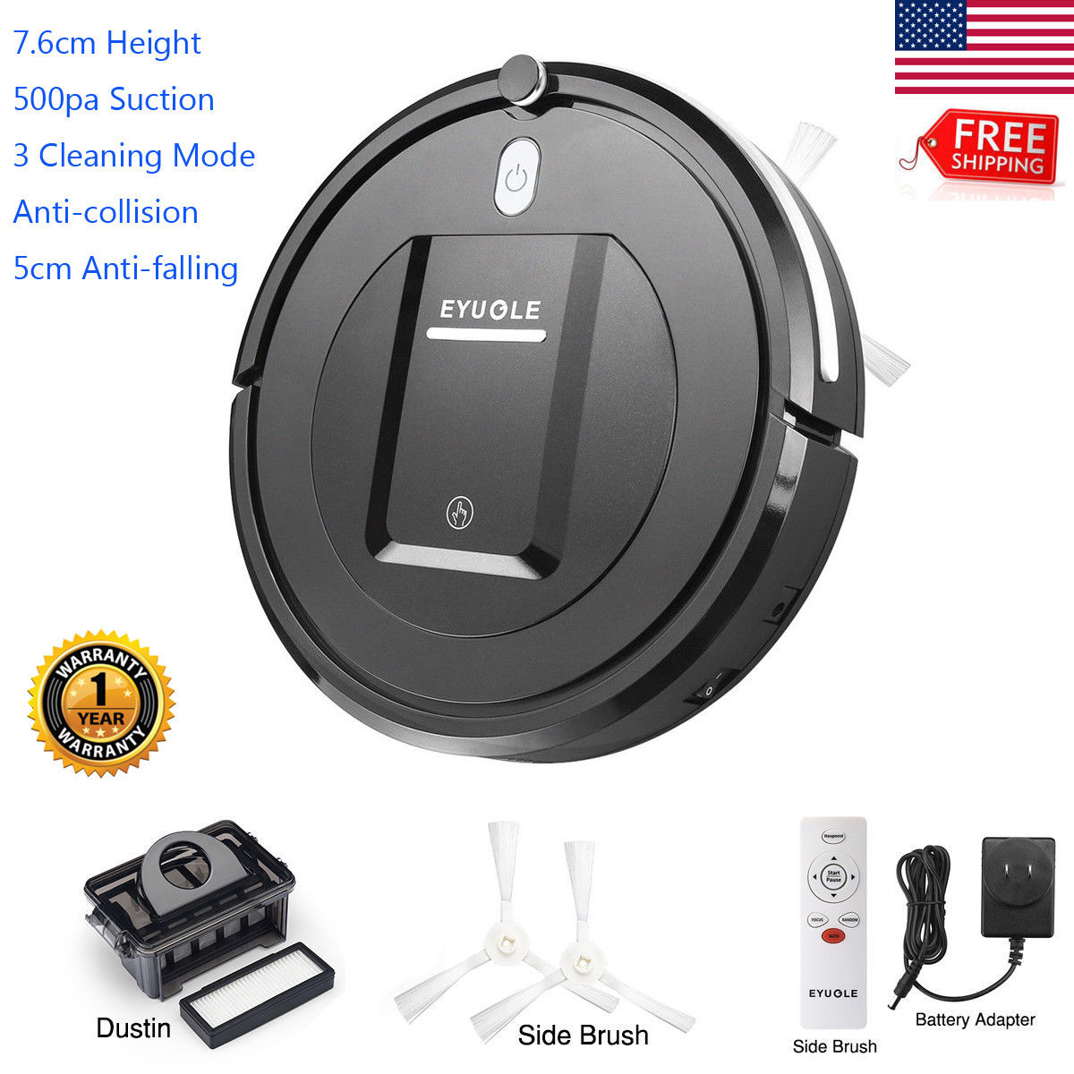 Usb Rechargeable Automatic Smart Floor Vacuum Cleaner Household Sweeping Machine Aspiradoras Para El Hogar Hot Be Friendly In Use Home Appliances