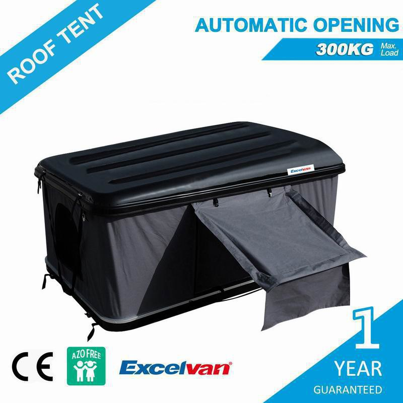 Excelvan Automatic Hard Shell Roof Top Tent For Car Truck C&er Top Roof Rack 1-2 Person : hard top roof tent - memphite.com
