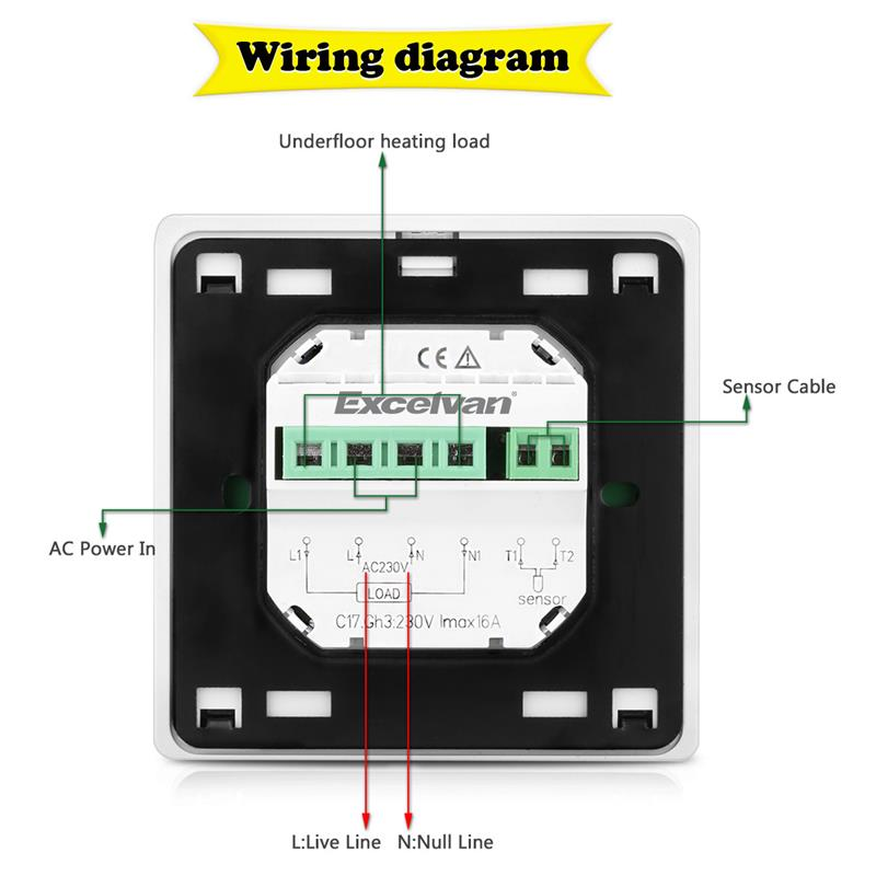 excelvan丨offers an extensive range of innovations designed product car audio wiring diagrams package included 1 * thermostat with backlight 1 * 3m sensor cable 2 * mounting screws 1 * english user manual