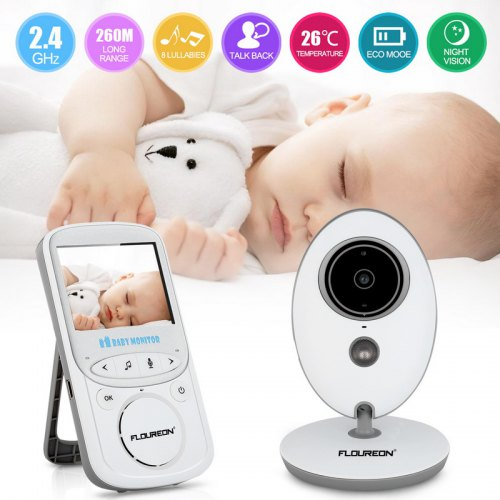 6d55bc4b6b60 FLOUREON 2.4 Inch Digital Wireless 2.4 GHz Baby Monitor LCD Video Nanny  Security Camera Temperature Display 2 Way Talk Night Vision Lullabies Radio