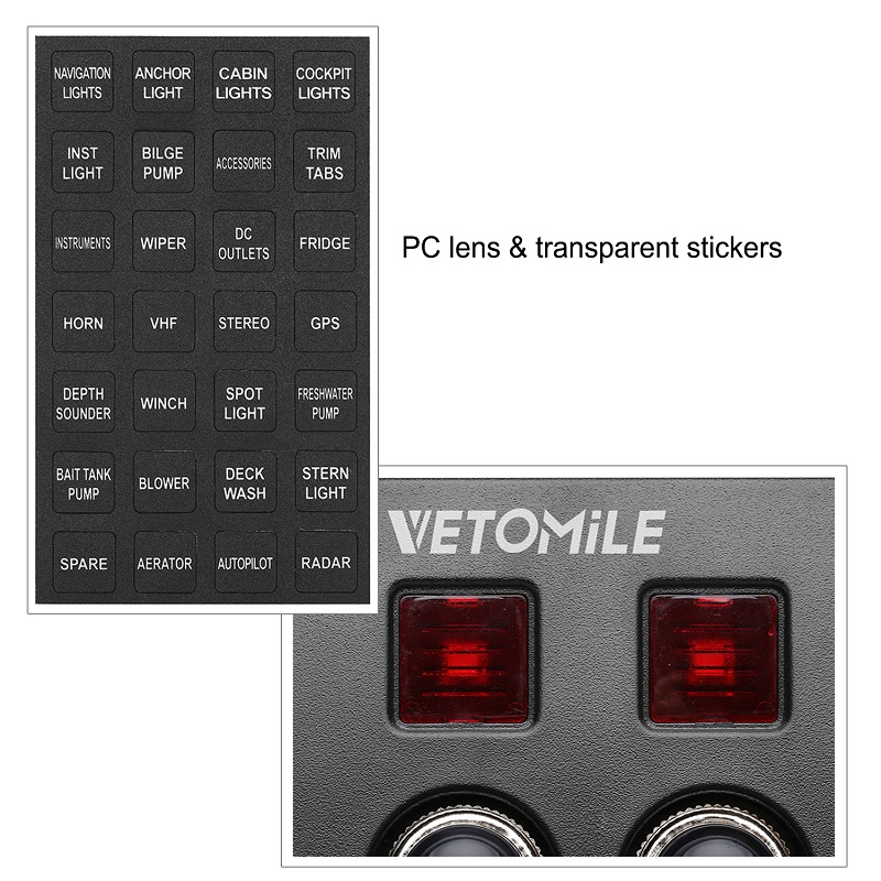 Vetomile switch panel