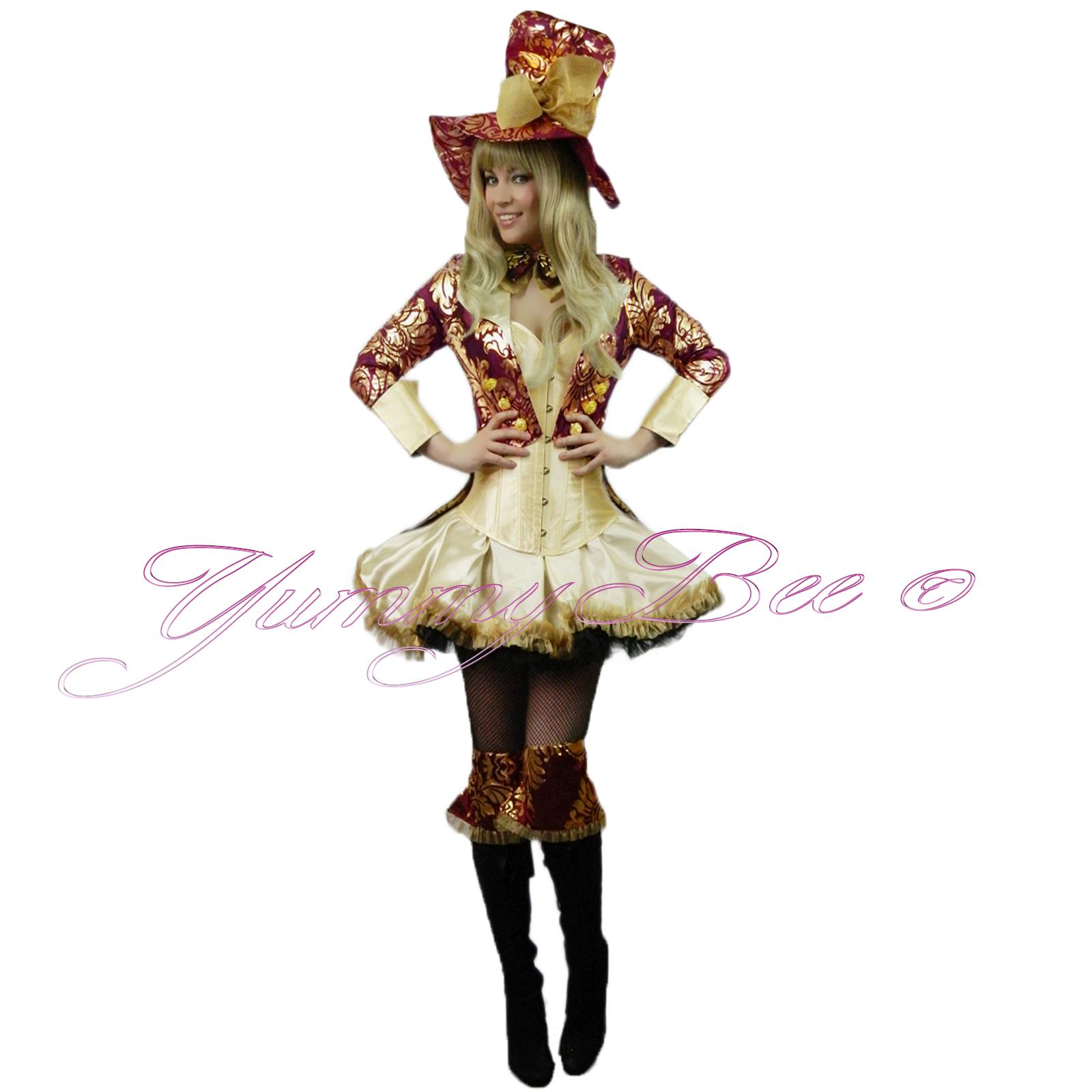 Sexy Mad Hatter Alice in Wonderland Fancy Dress;