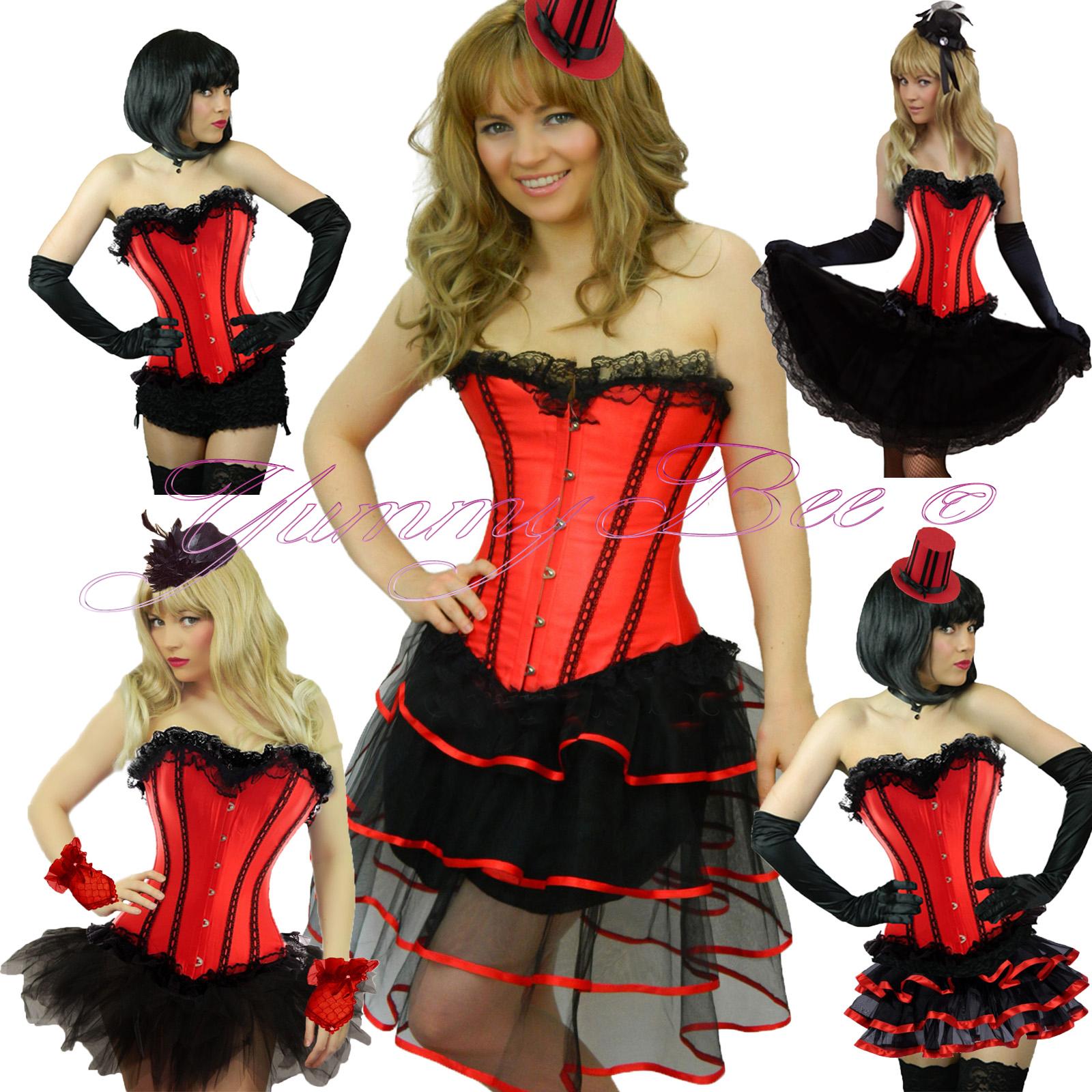 fc33453c74c0b Burlesque Corset Tutu Fancy Dress Costume Plus Size 6-28 Moulin Hen ...