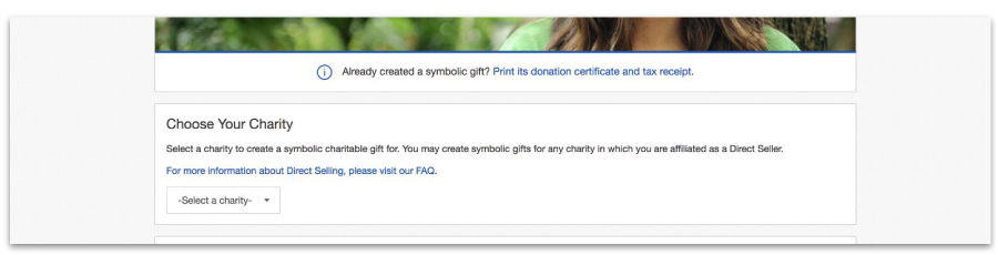 Choose Your Charity Screenshot